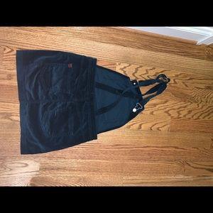 Dresses & Skirts - Velvet overalls mini skirt